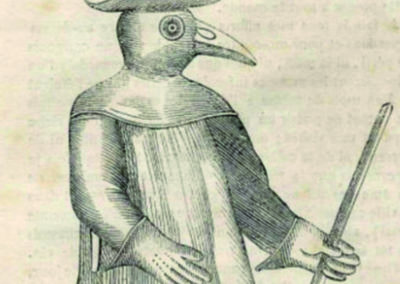 Un médecin équipé contre la peste - 18e siècle
